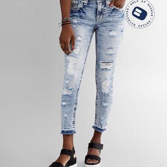 Rock Revival Stellar Mid Rise Ankle Jeans 32 New